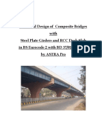 Composite Bridge Steel Girder Design in BS