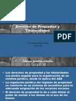 Derecho de Propiedad y Titularidades