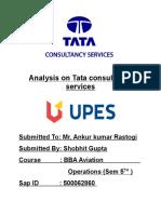 TATA Consiltancy Services Report Marketing Management