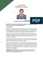 La Cosa Juzgada - Inmutabilidad De La Sentencia. Por. Dr. Janner Alan Lopez Avendaño