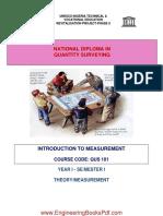 National Diploma Quantity Surveying