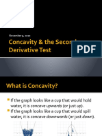 Concavity & the Second Derivative Test - Ink