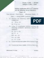Bca question paper