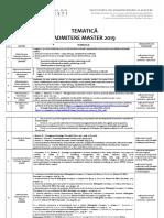 Tematica Master 2019
