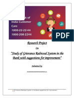 R & D Report on Customer Greivance