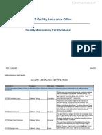 QAO Certifications