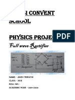 Physics investigatory project on FULL WAVE RECTIFIER