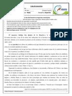 Lista de Exercícios de Espanhol Profª Nádia 9º Ano p1 i Bim