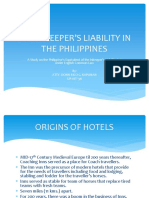 Hotel Keepers Liability in the Philippines