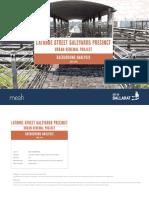 Latrobe Street Saleyards Background Analysis