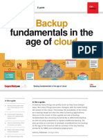Backup Fundamentals in the Age Cloud