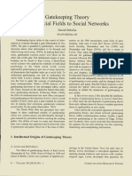 Deluliis, D.- Gatekeeping, Theory Fron Social Fields to Social Networks