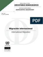 ObservatoriodemograficoCEPAL - migraciones