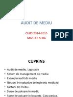 Audit de Mediu Paul Eugen Curs Master 2014-2015