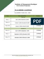 Acad calendar