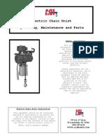 3PH Electric Chain Hoist Manual