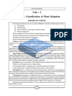 Classification of Plant Kingdom