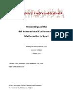 Math Sport 2013 Proceedings