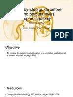 A Step-By-step Guide Before Doing Percutaneous Nephrolithotomy1
