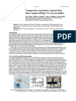 High Speed Temperature Insensitive Optical Data Transmission with Compact 850nm TO-can assemblies