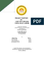 2 Bit Multiplier Project Report