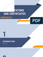 Accreditation and Certificates
