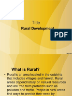 Rural and Urban Development Meaning
