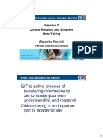 PGP Session 2 Critical Reading and Effective Note Taking as (2 Slides)