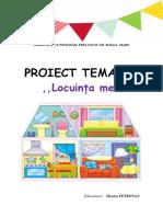 proiect tematic - Locuința mea - grupa mică