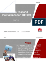 WCDMA Basic 18 Spectrum Test and Instructions for YBT250