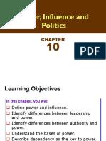 Ch 10 Power, Influence & Politics