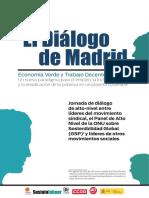 El Diálogo de Madrid. Economía Verde y Trabajo Decente