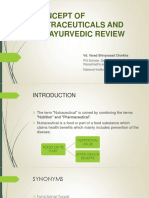 Concept of nutraceuticals and its ayurvedic review
