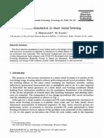 Process Simulation on Sheetmetal Forming