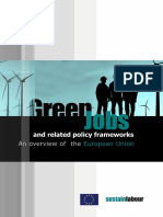 Green Jobs and related policy frameworks. An overview of the European Union. (Sustainlabour, 2013)