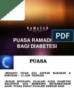 Diabetes Dan Puasa 2012 Untuk Awam
