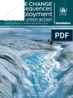 Climate change, its consequences on employment and trade union action. A training manual for workers and trade unions. (Sustainlabour, 2012)