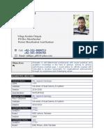 New CV of Zulfiqar Ali