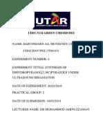 Udec3134 Green Chemistryexp 4