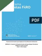 Modulo de Lengua Formacion de Escuelas FAro 2019