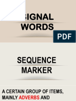 Sequence Markers or Connectors