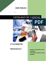 Catalago de Cuentas Trabajo