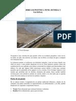 Historia Sobre Los Puentes a Nivel Mundial y Nacional Bolivia