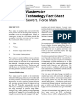 Wastewater Technology Fact Sheet Sewers, Force Main