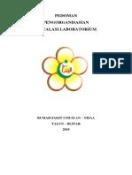 Pedoman Pengorganisasian Laboratorium 2018