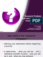 Research Problem  and how to develop a research problem