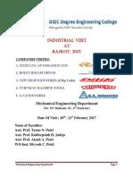 Industrial Visit Repot Rajkot 2017