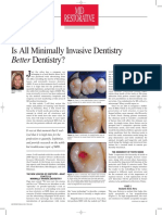 Is All Minimaly Invasive Dentistry Better Denistry