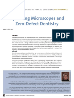 Operating Microscopes and Zero-Defect Dentistry
