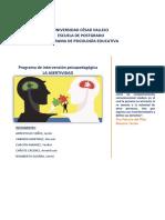 Programa de Intervención - Imprimir